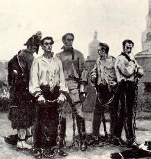 Восстание декабристов на Сенатской площади.